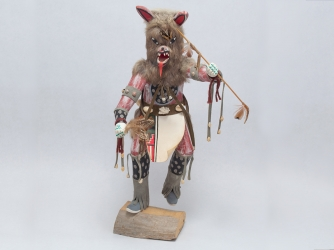 Large Navajo Wolf Kachina