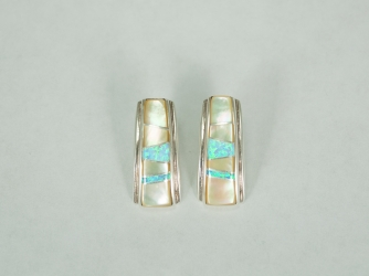 Opal and Mother of Pearl Earrings