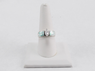 Opal Ring with Marquis CZ