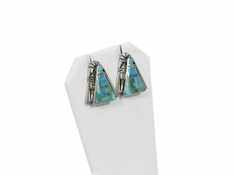 Large California turquoise earrings