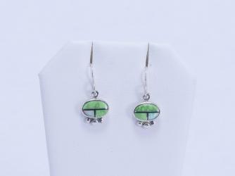 Green Turquoise & Opal Earrings