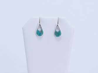 Turquoise Teardrop & Sterling Earrings