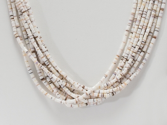 Conus Shell Heishe Necklace by Pauline Bird