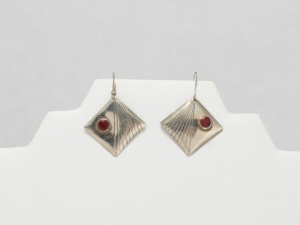 Silver and Red Jasper Earrings
