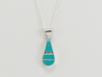 Turquoise & Opal Pendant w/chain