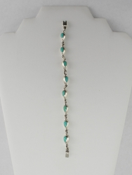 Sterling & Turquoise Chain Link Bracelet