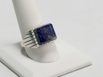 Rectangular Lapis Ring Size 12