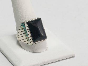 Onyx ring by Ray Jack Size 11.5