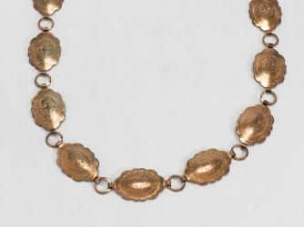 Oval Brass color Conch Belt