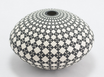 Geometric Pattern Seed Pot by Robert Kasero (Laguna Pueblo)