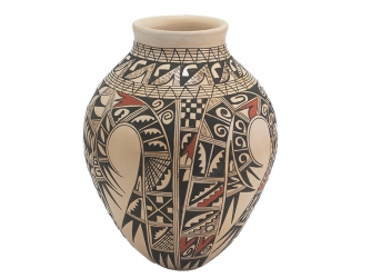Large Sikyatki Vase by the Exceptionally Skilled Hopi Potter Antoinette Honie