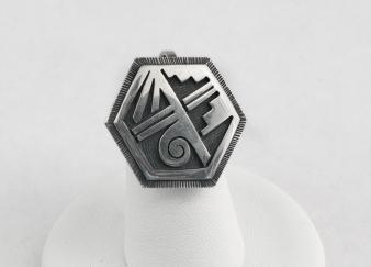 Hopi Overlay Octagon Pendant