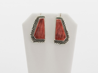 Exquisite Orange Spiny oyster shell earrings