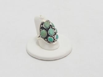 Seven Kingman Turquoise Stone Ring
