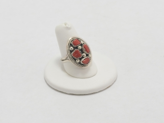 Four Stone Coral Ring
