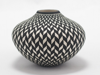 Acoma Vase by Award Winning Potter Paula Estevan