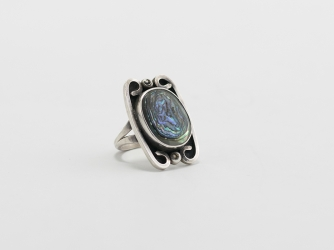 Abalone Shell Ring - size 6