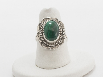 Malachite & Sterling Ring