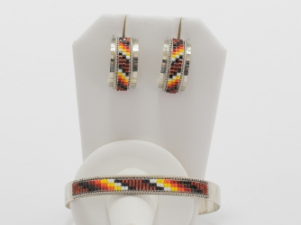 Beaded Bracelet and Earring Set