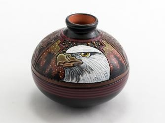 Paul Lansing 3 5/8in. Bald Eagle Vase