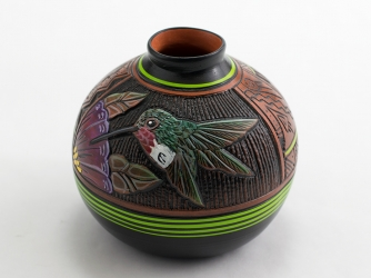 Paul Lansing 3 5.8in. Hummingbird Vase
