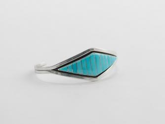 Modern Turquoise Zuni Bracelet