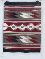 Navajo Rug 23 x 17 1/4 by Louise Johnson