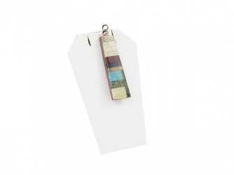 Multi-stone long rectangular slab pendant