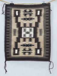 Navajo Rug 20 x 16 1/4 by Rosita Segay