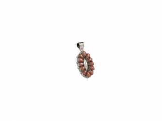 Zuni Dark Red Coral Pendant