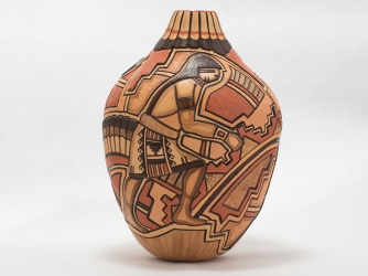 Large Hopi Vase by Award Winning Potter Tom Polacca