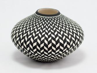 Elegant Bowl by Acoma Artist Paula Estevan