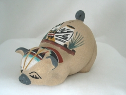 Sand Painted Piggie Bank - Elsie Mitchess