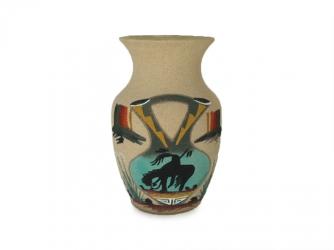 Navajo Sand Painted Vase