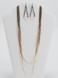 5 Strand Heishe Necklace and Earrings