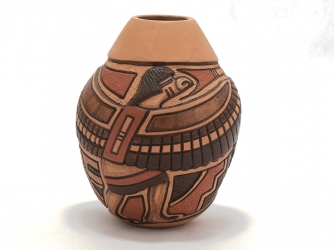 "111017 - ""Eagle Dancer"" Kachina Vase"