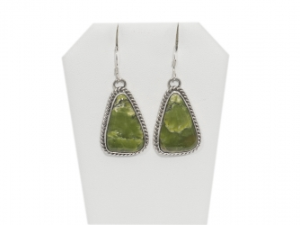 Serpentine Earrings in Sterling Silver