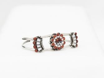 Sunface bracelet coral & MoP