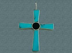 Zuni cross turquoise,jet