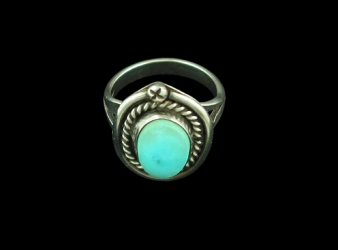 Navajo Turquoise Ring Size 6 1/4