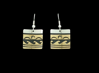 Navajo Tommy Singer Gold Filled Over Sterling Earrings