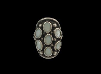 Mother of Pearl Cluster Ring