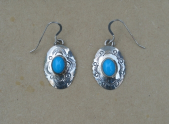Conch Silver/turquoise Earrings