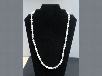 White Ball Necklace