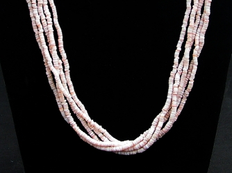 5 Strand Cream Heishe Necklace