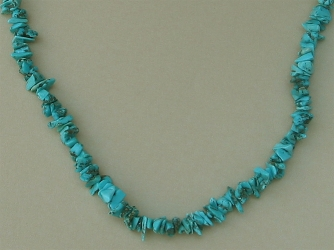 "Turquoise Nugget 18"" Necklace"