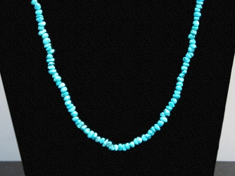 "Turquoise 22"" Nugget Necklace"