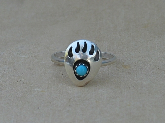 Sterling Silver and Bear Claw Ring
