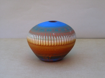Navajo Etched Pottery by C. Torres