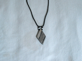Anasazi Pottery Shard Diamond Shaped Necklace